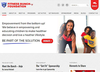 Web sajt za Fitness Bunch Fondaciju, USA